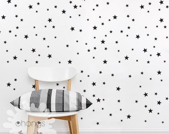 Star Wall Decal / Mini Size Star Pack / 3 Size Stars Decal Set / Kids wall decoration / Nursery Wall Decal / gift