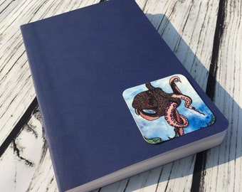 """Octopus Traveler - Nautical Inspired Watercolor Painting -  2.5"""" Sticker"""