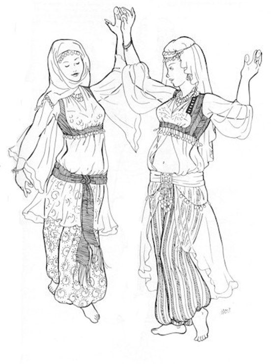 AF27 Bahigas Blouse Pattern Belly Dance Sewing Pattern by