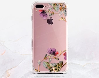 iPhone 8 Case iPhone X Case iPhone 7 Case Floral Clear GRIP Rubber Case iPhone 7 Plus Clear Case iPhone SE Case Samsung S8 Plus Case U40