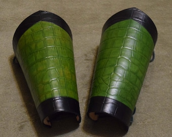 Green and Black Dragon armor bracers larp cosplay renaissance pirate