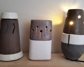 Oil burner, Lamp, Essential Oil,Fragrance Oil, Plug in Lamp Diffuser, Oil Burners, ElectricOil diffuser, fragrance diffuser.Handmade ceramic