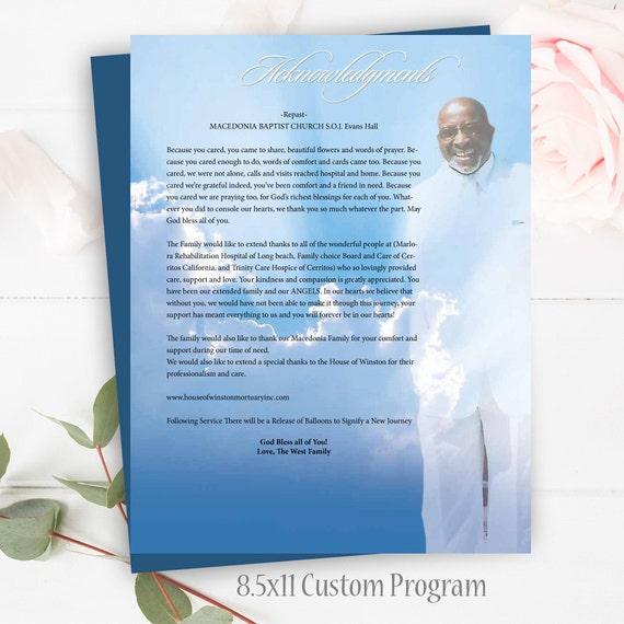 Beerdigung Programm Feier des Lebens Order Service