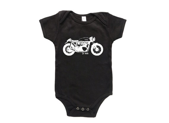 Vintage Motorcycle Boy Baby Clothes Cafe Racer Baby Onepiece
