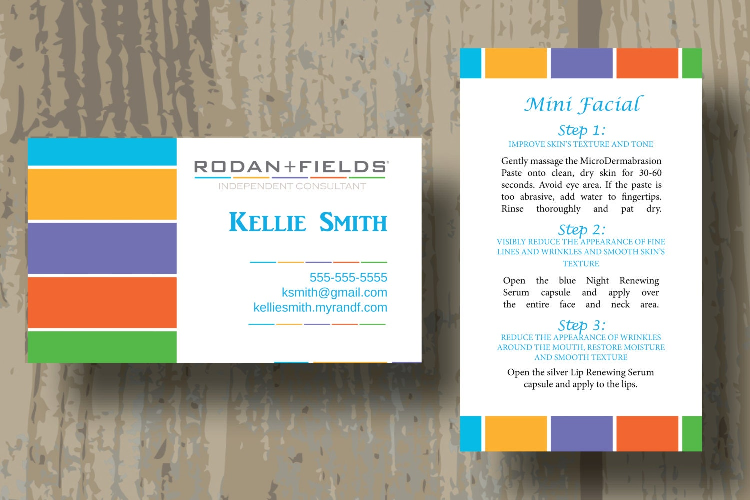 Rodan Fields Business Cards PRINTED CARDS ONLY Two Sided