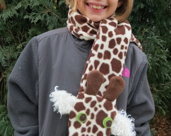 Giraffe Fleece Scarf