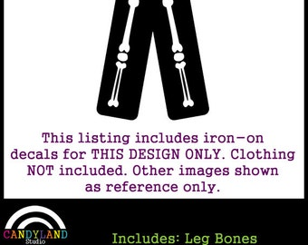 Iron on Leg Bones to Match Pregnant X-Ray Skeleton Maternity Halloween Costume