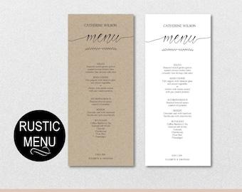 Rustic wedding menu template green menu template leaves rustic wedding menu template diy wedding guest name menu printable wedding menus editable pdf download instantly vrd107jk junglespirit Choice Image