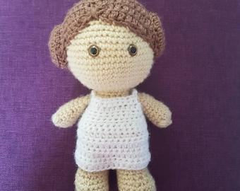 Princess Leia, princess doll, star wars doll, collectible doll, movie doll, character doll, crochet doll, soft doll