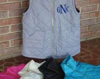 Monogrammed Quilted Reversible Vest