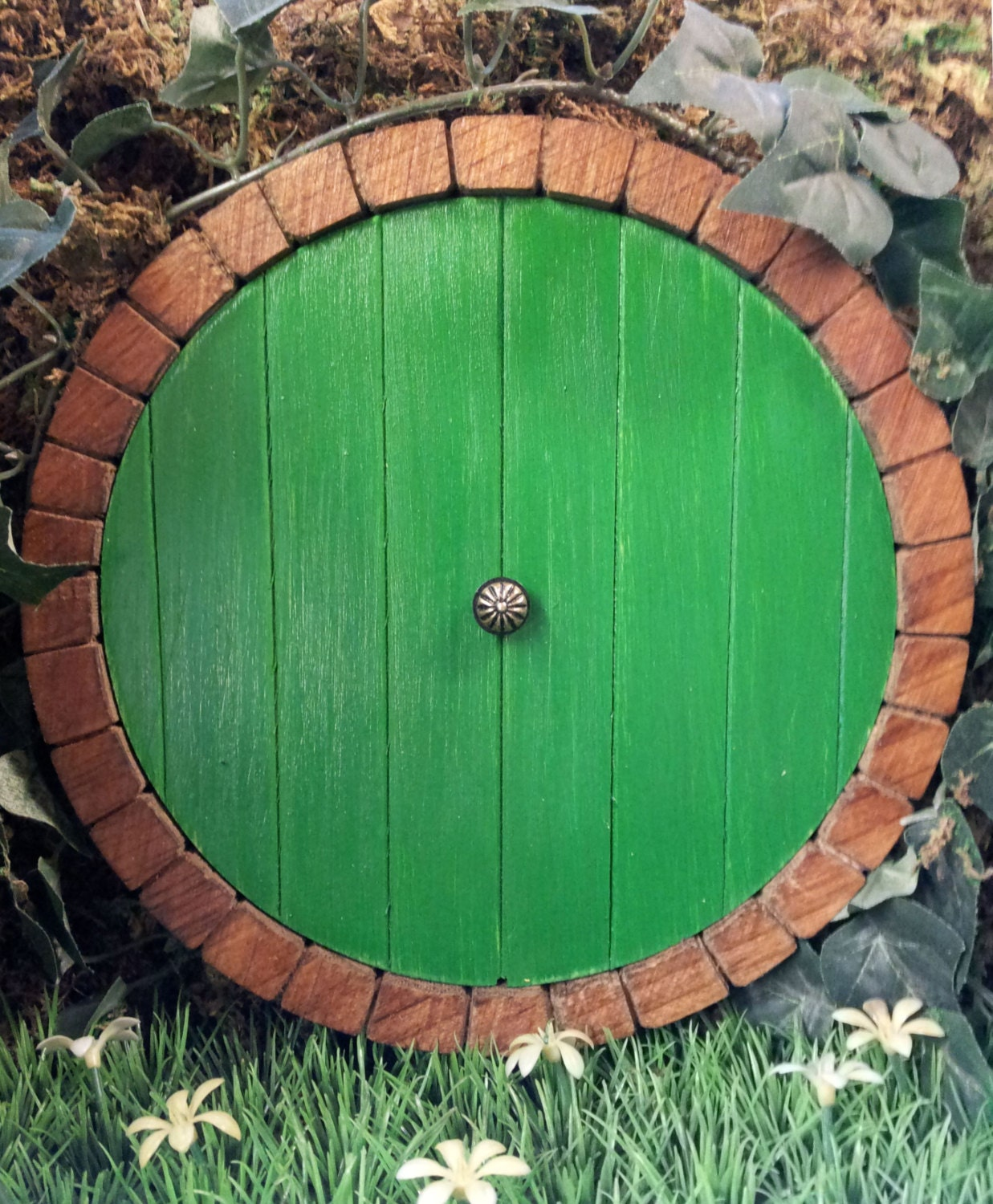 🔎zoom & Middle earth Hobbit door fairy door faerie doors elf door.