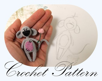 PATTERN: Mouse Pattern, Amigurumi Mouse, Crochet Tutorial, Valentine's Day, Crochet Animals (English Only)