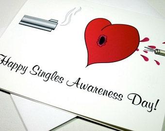 Instant Printable Digital Download Singles Awareness Day Card