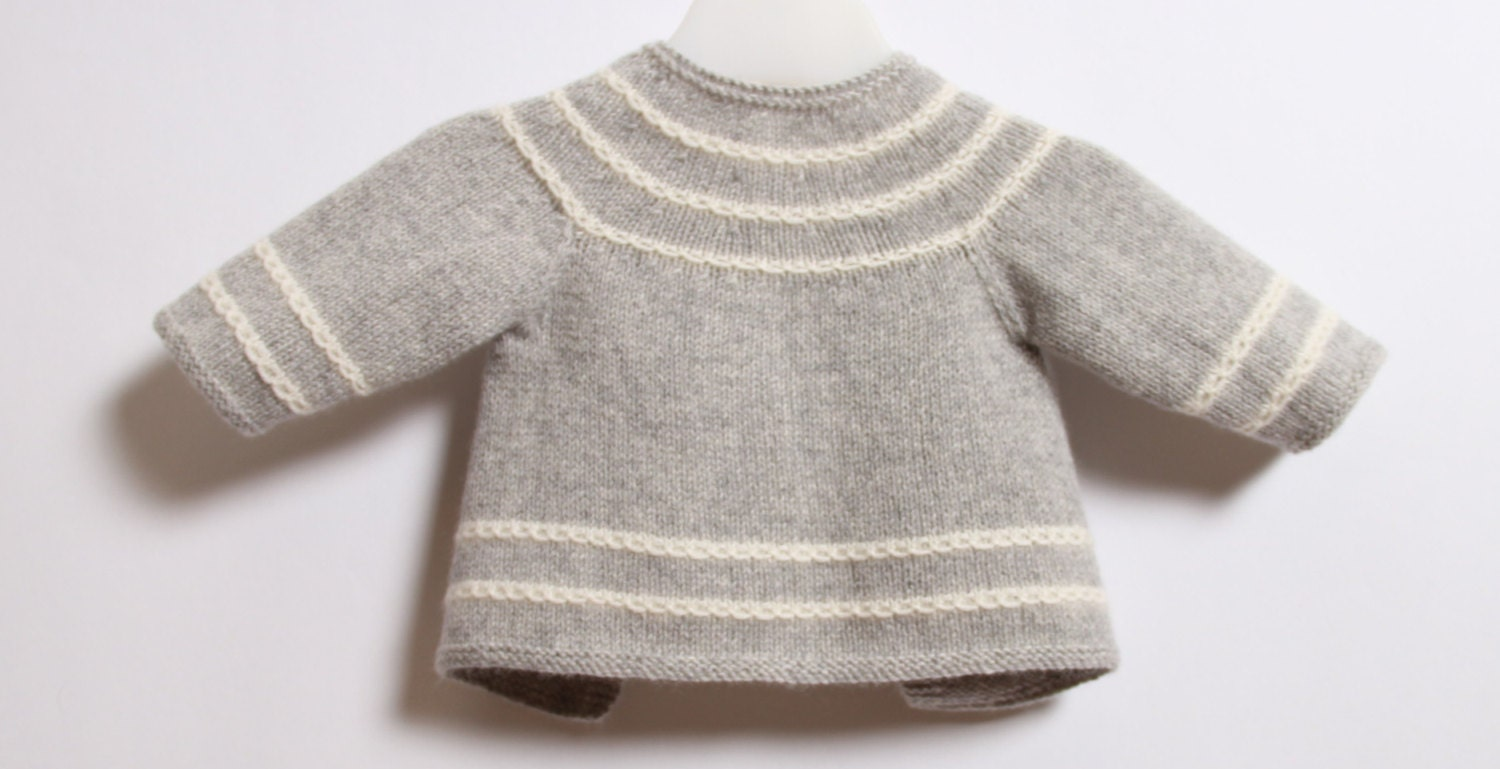 accef2161 Baby Cardigan   Knitting Pattern Instructions in French   PDF ...