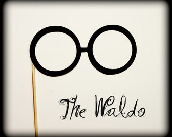 Eye Glasses on a Stick-glasses on a stick-Photo props-photo booth-party props-Little Man party-The Waldo