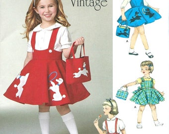 CHILD'S JUMPER, SKIRT & Bag Pattern by Simplicity, #1075 Sizes: 3-8.  Uncut