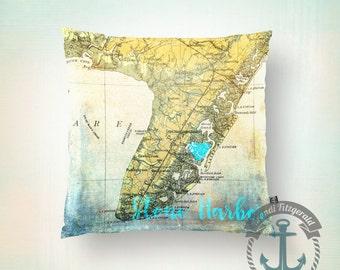 Throw Pillow | Stone Harbor | Down the Shore Beach House Decor  | Size and Price via Dropdown