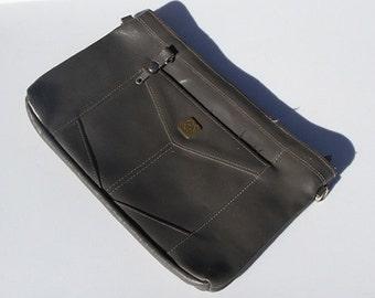 Cute vintage grey leather clutch