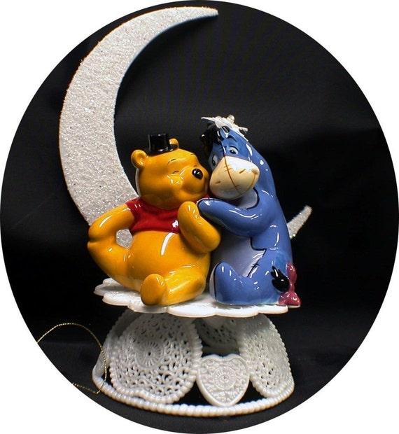 EEYORE Bride & Winnie the Pooh Groom Wedding Cake Topper Horse