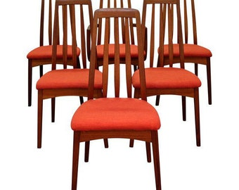 Set of 6 Mid-Century Danish Modern Hornslet Style Teak Dining Chairs