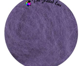 Needle Felting Maori Wool Batt / FB19 Violet Sneakers Maori Wool Fluffy Batt