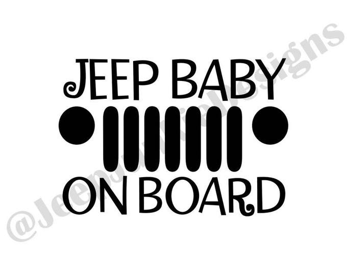 Jeep Baby on Board Vinyl Decal