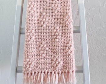 Crochet Diamond Berry Stitch Blanket Pattern