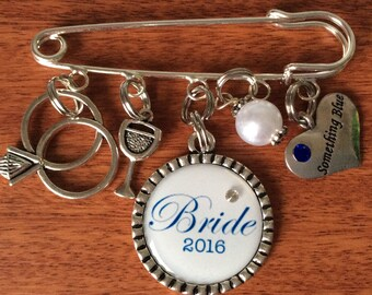 Bridal Pin For Bride, Gifts For Bride, Bride Gifts, Something Blue For Bride, Something Blue Gifts, Gifts For Bride To Be, Wedding Keepsake