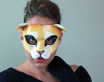 Lion Leather Mask - Lion King - Lioness - Aslan - Halloween Mask -Masquerade - Costume - Cat - Mountain Lion - Puma - Cougar & Mountain lion mask   Etsy