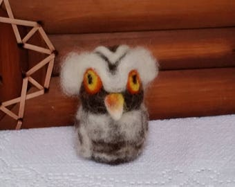 CritterCreatures by Aurora (TM):  Grand Wizard Owl (Needle Felted Wildlife)