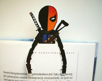 Deathstroke Bookmark template - dc, Arrow TV series, birthday gift for him her printable unique instant download Book Accessories