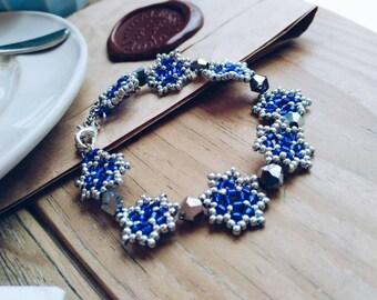Beaded bracelet - gift - blue bracelet