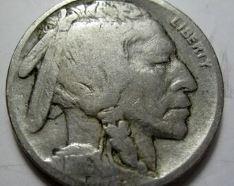 1916 Buffalo / Indian Head nickel coin grades VG (#E213d)