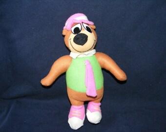 Yogi Bear Doll, Bear Doll, Stuffed Doll, Cartoon Doll, Vintage Doll, Vintage Bear Doll