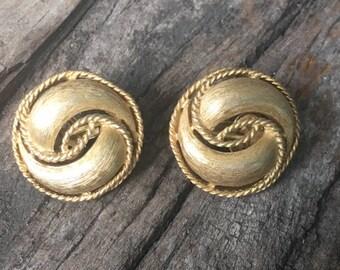 Trifari Swirl Earrings