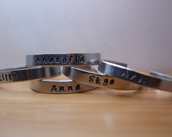 child aluminum personalized handstamped bracelet - personalized handstamped bracelet - personalized bracelet - handstamped bracelet
