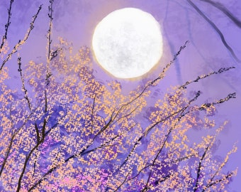 Blossoms And The Moon