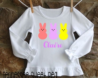 Personalized Easter Clothing, Easter Girl's Clothing, Custom Easter Shirt, Toddler Easter Tops, Girl's Clothing, Girl's Easter, Short/long