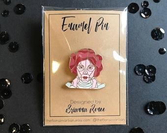 Your Worshipfullness Enamel Pin | Princess Leia Pin | Disney Pin | Rose Gold Enamel Pin | Enamel Pin | Lapel Pin | Pin | Star Wars Pin |