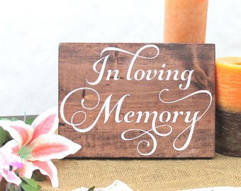 In Loving Memory Sign, Wedding Memory  Sign, Loving Memory Sign, Forever In Our Hearts, Memorial Sign, Memory Table, Remembrance Sign
