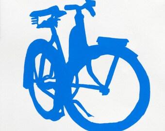 Bike Art - Blue Cruiser Bicycle Print