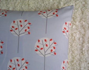 Moonlight Tree in Pale Blue cushion cover