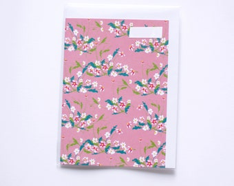 Pink Daisy Card A6 Blank Notelet