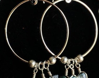 Baby Blue Crystal Hoops