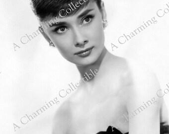 AUDREY HEPBURN 8x10 or 11x14 Photo Print 1955 Hollywood Classic Actress 1950's Wall Hanging Art Home Decor