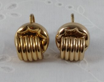 Vintage Screwback Earrings - Gold Tone Earrings Signed Coro - 1940's-50's