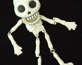 Day of the Dead Gold tooth Skeleton Mardi Gras/Halloween bead
