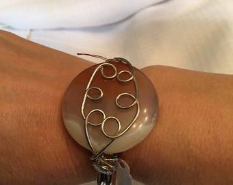Agate Cuff Bracelets