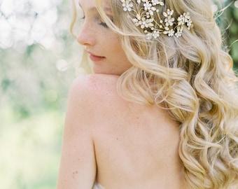 Braut Kopfschmuck, Kristall Kopfstück, floralen Kopfschmuck, Hochzeit Kopfschmuck, Haare kämmen, Hochzeitshaarkamm, Hochzeitszubehör - Art-502