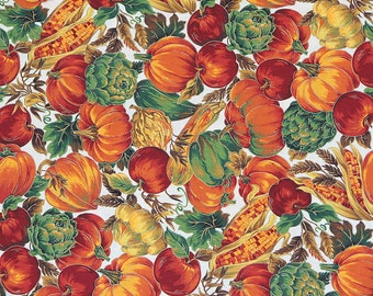 Fabric Pumpkin Fabric Cotton Fabric Halloween Fabric Fall Fabric VIP Print by Joan Messmore Cranston Print Works Co. Autumn Fabric 1 Yard